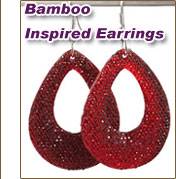 Bamboo Inspired Earrings