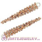 Wholesale 52mm Basketball Wives Resin Crystal Spike Earring Beads