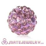 Wholesale Cheap Price 10mm Violet Handmade Pave Crystal Beads