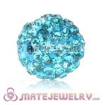 Wholesale Cheap Price 10mm Cyan Handmade Pave Crystal Beads