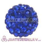Wholesale Cheap Price 12mm Handmade Pave Blue Crystal Beads