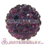 Wholesale Cheap Price 12mm Handmade Pave Fuchsia Crystal Beads