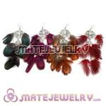 Wholesale 120 Pair Per Bag Multi Colored Long Colorful Feather Earrings