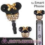 Alloy Disney Character Minnie Mouse Earphone Jack Plug Fit iphone