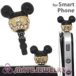 Alloy Disney Character Mickey Mouse Earphone Jack Plug Fit iphone