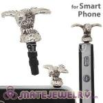 Wholesale Silver Plated Alloy Bird Earphone Jack Plug fit iphone