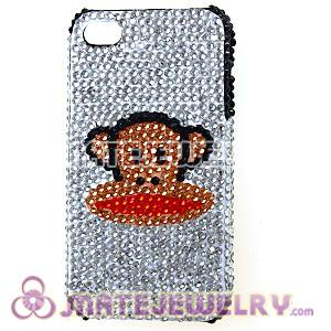 Cute Crystal Paul Frank Back Cover Cases For iPhone 4 iPhone 4S