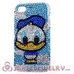 Cute Crystal Donald Duck Back Cover Cases For iPhone 4 iPhone 4S