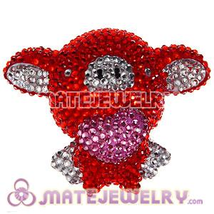 Cute 3D Bling Crystal Fly Pig Absorbable Doll For iPhone Cases