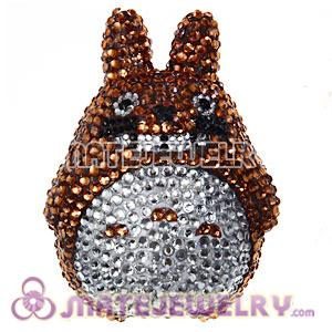 Cute 3D Bling Crystal Chinchilla Absorbable Doll For iPhone Cases