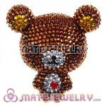 Cute 3D Bling Crystal Teddy Bear Absorbable Doll For iPhone Cases