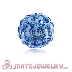 Wholesale Cheap Price 8mm Blue Handmade Pave Crystal Beads