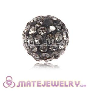 Wholesale Cheap Price 8mm Grey Handmade Pave Crystal Beads