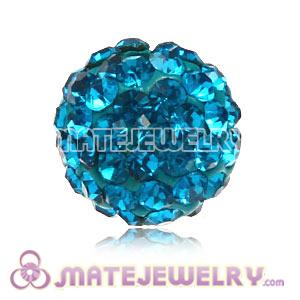 Wholesale Cheap Price 10mm Blue Handmade Pave Crystal Beads
