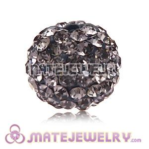 Wholesale Cheap Price 10mm Grey Handmade Pave Crystal Beads