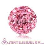 Wholesale Cheap Price 10mm Pink Handmade Pave Crystal Beads