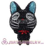 Cute 3D Bling Crystal GiGi Cat Absorbable Doll For iPhone Cases