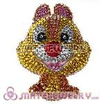 Cute 3D Bling Crystal Squirrel Absorbable Doll For iPhone Cases