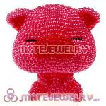 Cute 3D Bling Pearl Pink Pig Absorbable Doll For iPhone Cases
