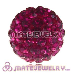 Wholesale Cheap Price 12mm Handmade Pave Fushia Crystal Beads