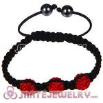 Wholesale Bargain Price Handmade Pave Red Crystal Macrame Bracelets