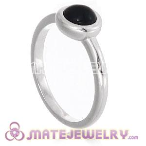 Wholesale Platinum Plated Cabochon Pearl Ring Upon Ring