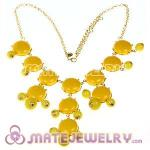 2012 New Fashion Yellow j Bubble Bib crew Statement Necklace