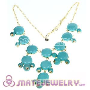 2012 New Fashion Turquoise Bubble Bib Statement Necklace