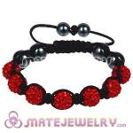 Wholesale Bargain Price Handmade Pave Red Crystal TresorBeads Bracelets