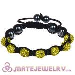 Wholesale Bargain Price Handmade Pave Yellow Crystal TresorBeads Bracelets