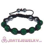Wholesale Bargain Price Handmade Pave Green Crystal TresorBeads Bracelets