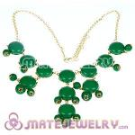 2012 New Fashion Green Bubble Bib Statement Necklace
