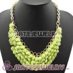 2012 New Olivine Chunky Multi Layers Bubble Bib Statement Necklace