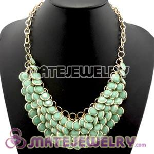 2012 New Turquoise Chunky Multi Layers Bubble Bib Statement Necklace