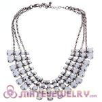 2012 New Chunky Chain Multilayer Resin Diamond Choker Collar Necklace