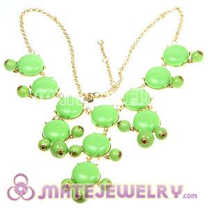 2012 New Fashion Green j Bubble Bib crew Statement Necklace