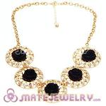 New Fashion Crystal Rose Flower Choker Collar Necklace Wholesale