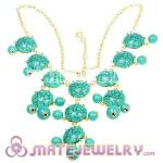 New Fashion Turquoise Bubble Bib Statement Necklace