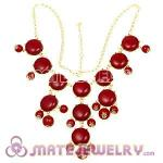 New Fashion Claret maroon Bubble Bib Statement Necklace
