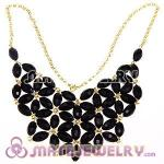 2012 New Fashion Black Bubble Bib Statement Necklace