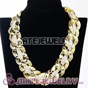 Punk Rock Plated Chunky Link Chains Choker Necklaces