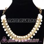 Chunky Gold Chain Resin Rhinestone Choker Collar Necklaces Wholesale
