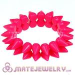 Fashion Cool 2 Rows Rock Punk Spike Rivets Elastic Stretch Bracelet