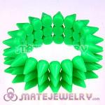 Fashion Cool 3 Rows Rock Punk Spike Rivets Elastic Stretch Bracelet