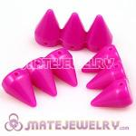 Three Row Rock Punk Spike Rivet Stud Acrylic Beads For Bracelet