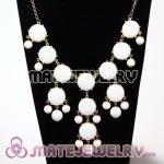 New Fashion White Bubble Bib Statement Necklace