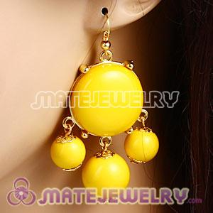 Fashion Gold Plated Yellow Drop Bubble Earrings Wholesale