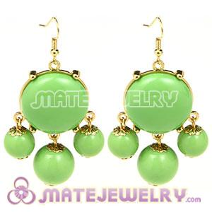 Fashion Gold Plated Drop Olivine Bubble Earrings Wholesale