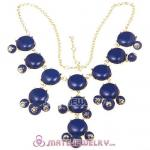 New Fashion Navy Bubble Bib Statement Necklace