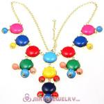 New Fashion Colorful Bubble Bib Statement Necklace